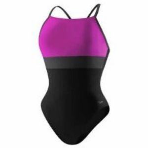 Speedo Color Block One Piece Swimsuit